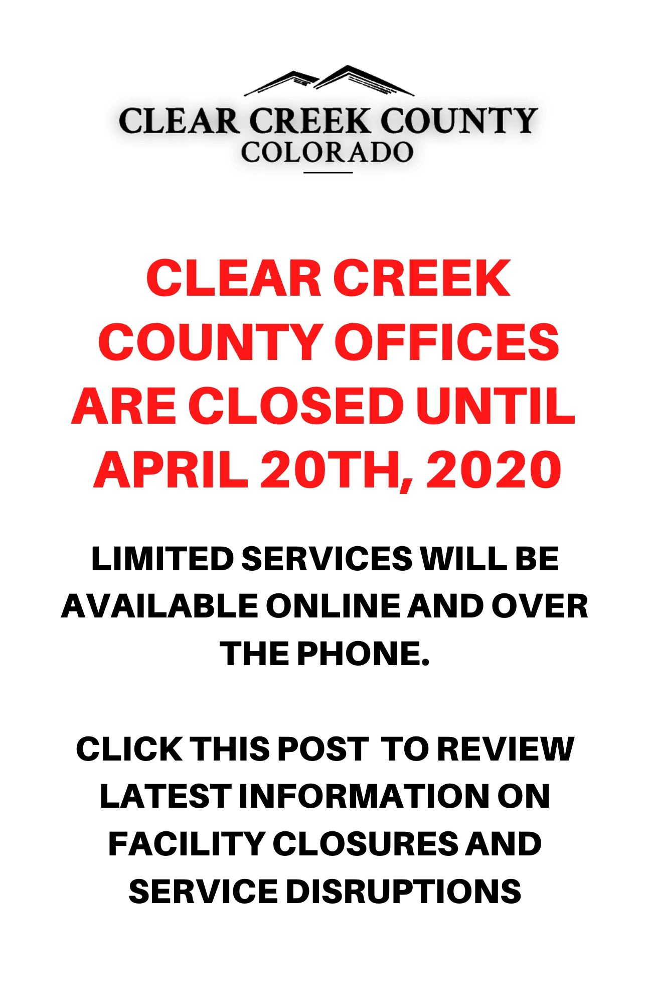 County Office Closure Details