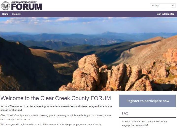 The Clear Creek County Forum